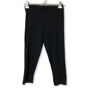 VS PINK Black Speckle Capri Leggings—S
